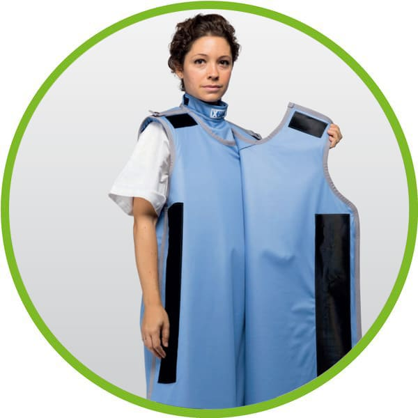 closed x ray apron