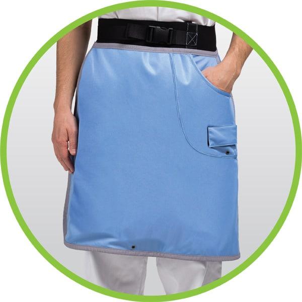 x-ray protective single-layer skirt